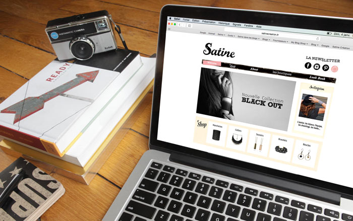Web Design Satine par Iconink